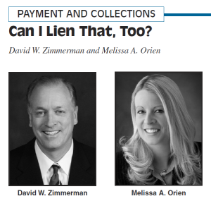 "Header for ""Can I Lien That, Too?"" published in Construction Lawyer, Volume 28, No. 4, Fall 2008"