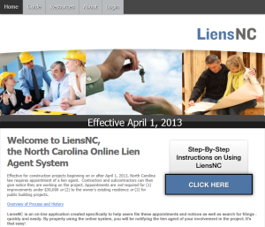 Screen shot of liensnc.com