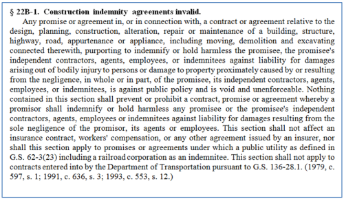 Anti-Indemnity Statute
